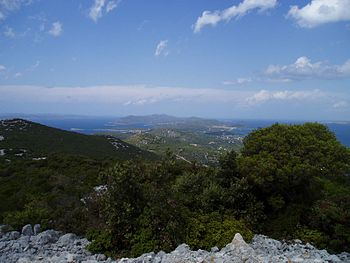 View of Pašman and Ugljan from the Bokolj hill...